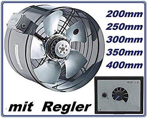 200 mm de la Industria Tubo Ventilador con 5 A Regulador de ...