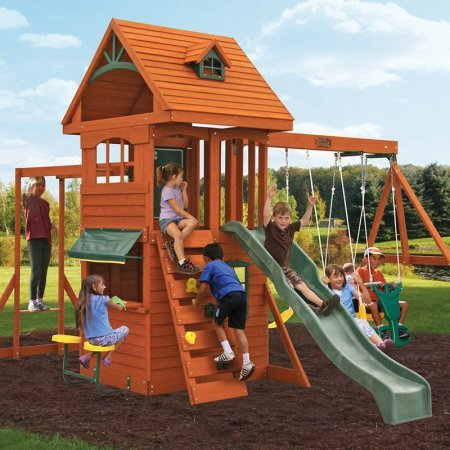 - Big Backyard F270855 Ridgeview Clubhouse Deluxe Play Set