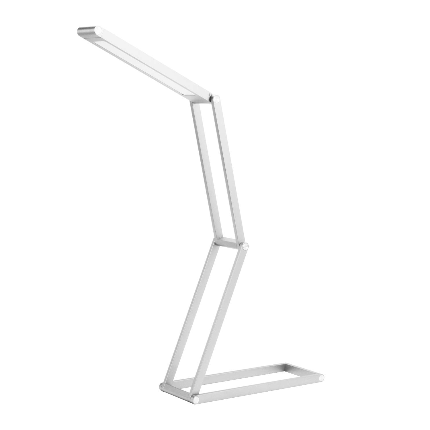 Foldable LED Desk Lamp, USB Rechargeable Selfie Light, Portable Table lamp, Light Hangers, Portable and Multi-Functional for Reading, Studying, Camping, Home,Bedroom and Office - ANTIEE (Silver) by ANTIEE