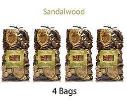 Hosley Candle Company Sandalwood Potpourri - Set of 4 / 4 oz each