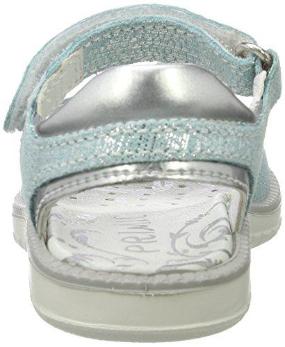 Primigi Mädchen Pat 7609 Offene Sandalen mit Keilabsatz Blau (POOL/ARGENTO)