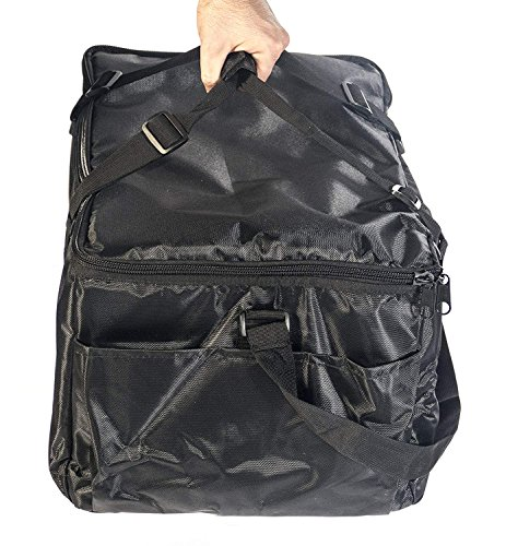 Insulated Food Delivery Bag - Commercial Quality Thermal Food Transport Bag - 22'' x 14'' x 11'' - Extra Strong Zipper With Thick Insulation Carrier - Large Black by DeliveryPizzaBags (Image #5)