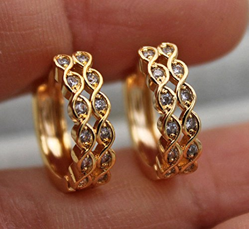 Phonphisai shop 18K Yellow Gold Filled- Hollow 2-Layer 8