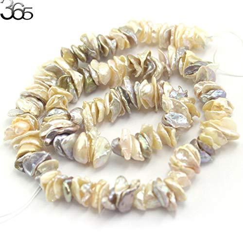 Calvas Pearl: 10-12mm Biwa Baroque Reborn Keshi Pearl Chips Beads Natural Pearl Loose DIY Beads Strand 15