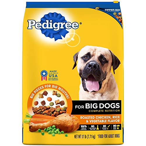 PEDIGREE Adult Large Dog Roasted Chicken, Rice & Vegetable Dry Dog Food 17 Pounds