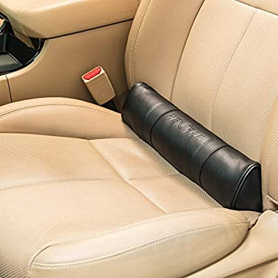 HIPCHAK (Black - Fully Adhering Lumbar Support Pillow That Relieves Back Pain and Fatigue While Driving - Car Driver Seat Cushion - Anywhere with a Foldable Backrest: Automotive