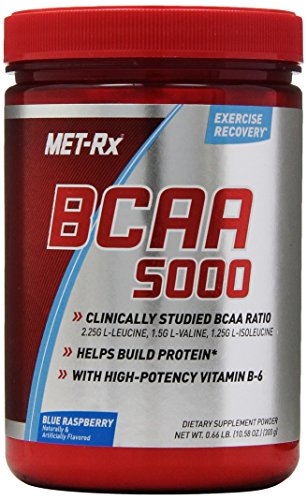 MetRX BCAA Dietary Supplement poudre, Blue Raspberry, 300 Gramme