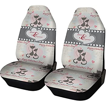 Cats In Love Car Seat Covers Set Of Two Personalized