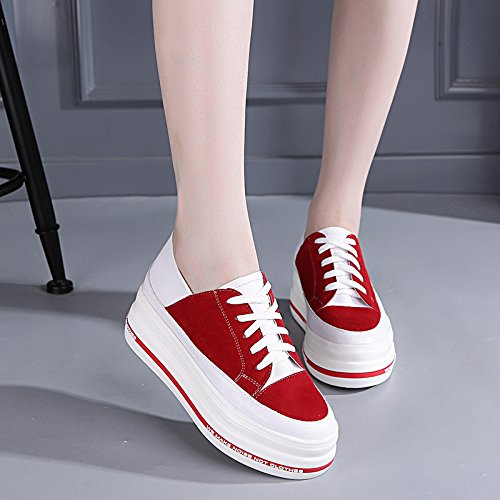 sports GTVERNH Thirty Leisure thick platform shoes sports Korean six increased shoe soled leisure white fvqwfWrA