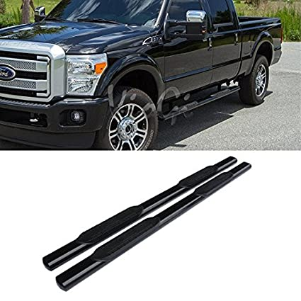 """09-14 Ford F150 SuperCab 4/"""" Chrome S//S Oval Side Step Nerf Bars Running Boards"""