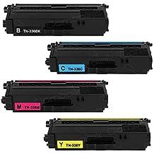 4 Pk Shopcartridges® TN-336BK TN-336C TN-336M TN-336Y Color Toner Set for Brother HL-L8250CDN HL-L8350CDW HL-L8350CDWT MFC-L8600CDW MFC-L8850CDW MFC-L9550CDW DCP-L8400CDN DCP-L8450CDW MFC-L8650CDW