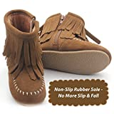 Genuine Suede Toddler Double Fringe Leather Boots (fawn Brown) (size 9) | amazon.com