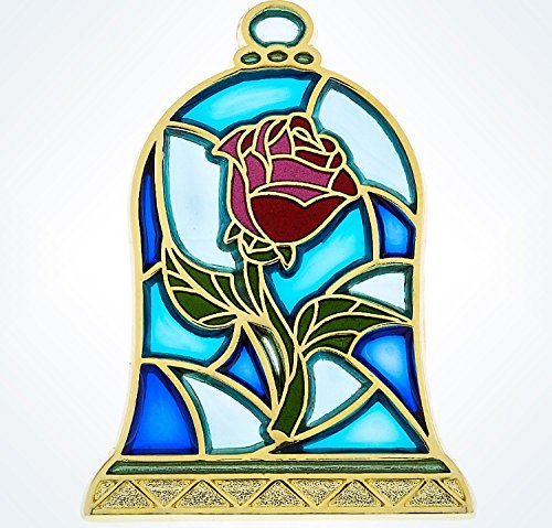 2016 Disneyland Beauty & The Beast Stained Glass Rose Pin