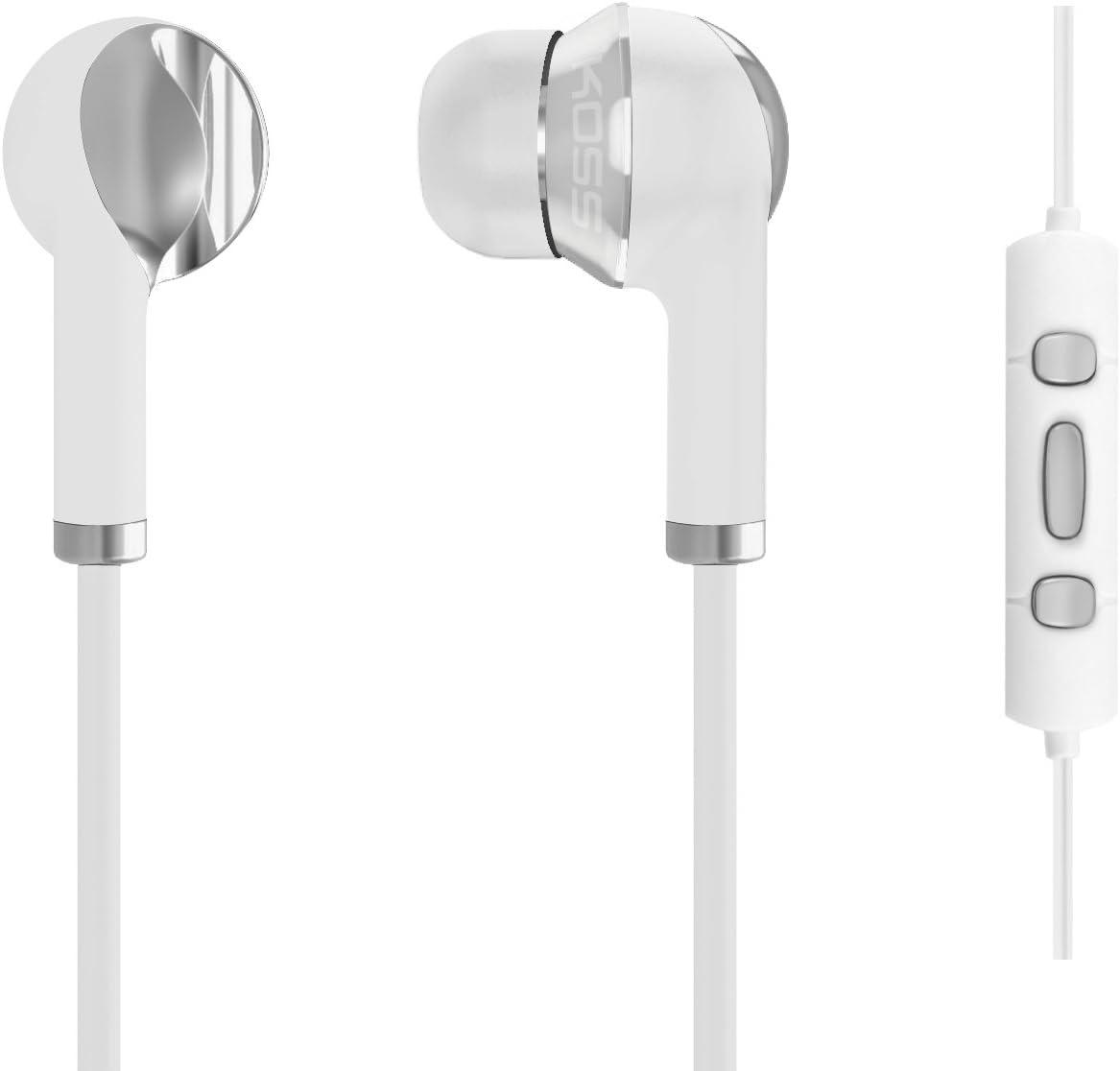 Koss KS181272 KTC - Auricolari per Apple iPhone/iPad/iPod, con microfono, colore: Bianco