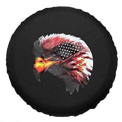 Eagle Head Spare Wheel Tire Cover Black Canvas Waterproof