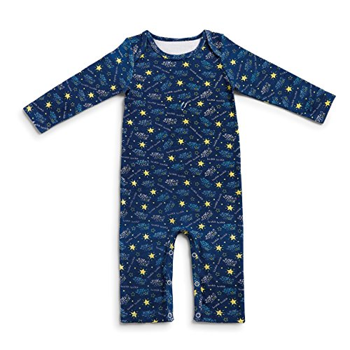 Blue Twinkle Little Star Baby's 0-6 Months Cotton Plush 2 Piece Stuffed Bear and Pajama Set