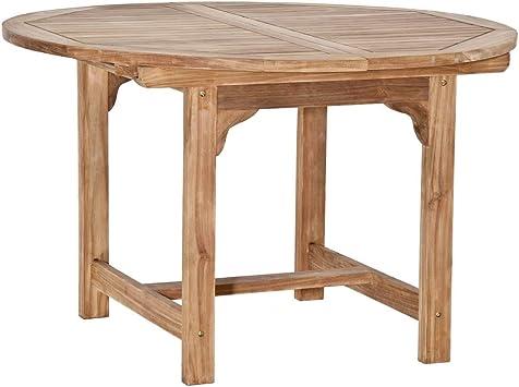 Homy Gartentisch Rund Oval 120cm Holz Massiv Amazon De