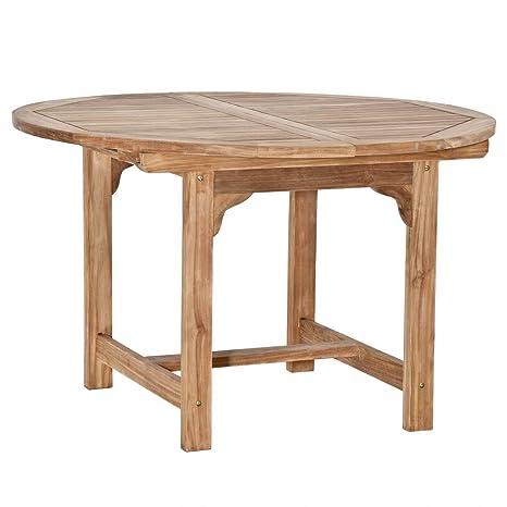 Berühmt Amazon.de: Homy Gartentisch Rund Oval 120cm Holz Massiv Teakholz WU51