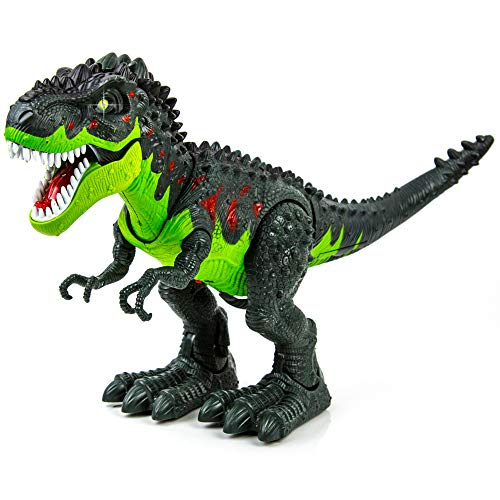 Toysery Simulated Flame Spray Tyrannosaurus T-Rex Dinosaur Toy for Kids - Walking Dinosaur Fire Breathing Water Spray Mist with Red Light & Realistic Sounds by Toysery (Image #5)