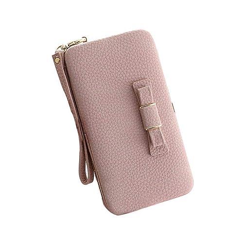 5a0b6125fbf7 Aeeque Women Wallet Purse Clutch Ladies Handbag Wrist Strap Leather Phone  Bag