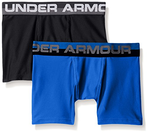 477d15a8d3 Under Armour Boys' Original Series Boxerjock 2-Pack, Ultra Blue /Black,  Youth Medium