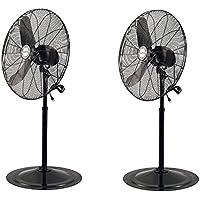 Air King 30 1/3 HP Industrial Adjustable Oscillating Pedestal Fan (2 Pack)
