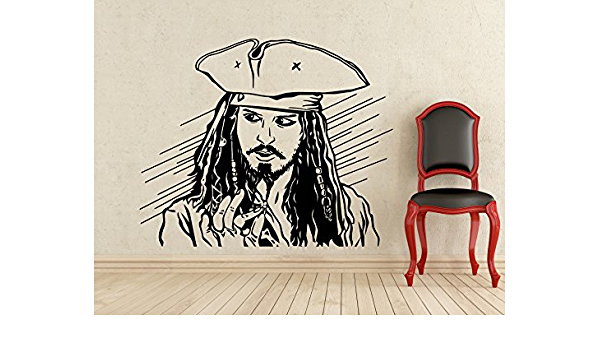 IT/'S PIRATES LIFE FOR ME FLAG JACK SPARROW Quote Vinyl Wall Decal Decor Sticker