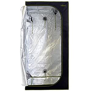 "MILLIARD Horticulture D-Door 36"" x 36"" x 73"" 100% Reflective Mylar Hydroponic Grow Tent with Window, Great for Indoor Planting and Early Seedling Starters"