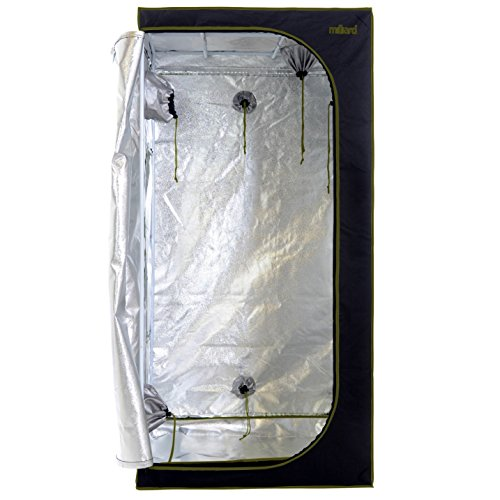 MILLIARD Horticulture D-Door 36'' x 36'' x 73'' 100% Reflective Mylar Hydroponic Grow Tent with Window, Great for Indoor Planting and Early Seedling Starters by Milliard
