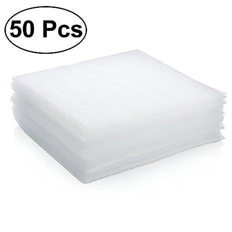 OUNONA Juego de 50 láminas de espuma de polietileno expandido para jarrones y vasos, platos