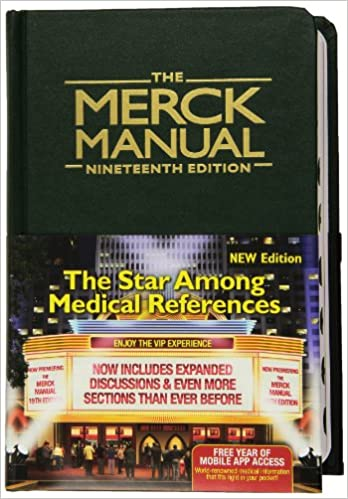 The merck manual 8601400074176 medicine health science books the merck manual 8601400074176 medicine health science books amazon fandeluxe Image collections