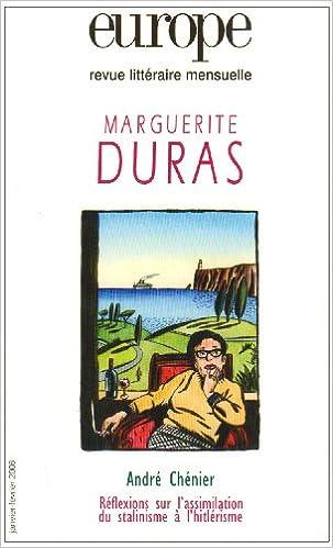 Livre Europe, revue litteraire menseuelle Marguerite Duras : janvier-fevrier 2006 pdf ebook