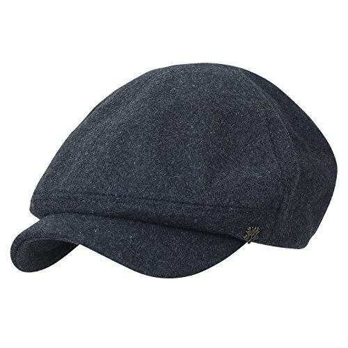bfae8de8effac ililily Solid Color Wool-Blend Gatsby newsboy Hat Cabbie Hunting Flat Cap