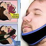 UniM Adjustable Anti-Snore Stop Snoring Chin Strap Snore Stopper Belt Anti Apnea Jaw Solution Sleep Support for Men & Women Sleeping