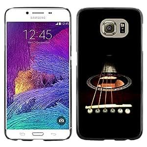 Be Good Phone Accessory // Dura Cáscara cubierta Protectora Caso Carcasa Funda de Protección para Samsung Galaxy S6 SM-G920 // Minimalist Guitar & Strings