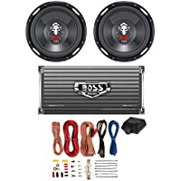 2 BOSS P126DVC 12 2300W Car Subwoofers Subs + 1600W 2-Ch Amp + 8 Gauge Amp Kit