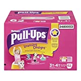 Huggies Pull-Ups Learning Designs Training Pants for Girls, Giga Pack, Size 3T-4T, 62 Count