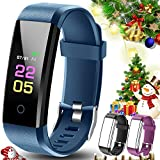 OumuEle Fitness Tracker - Kids Activity Tracker Watch Android with Heart Rate Monitor - Waterproof Fit Tracker Watch with Sleep Monitor Smart Bracelet with Calorie Counter Pedometer Watch for Women Men