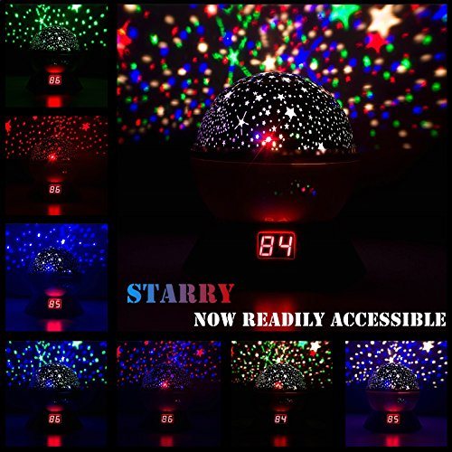 Image of the Night Lights for Kids, Multiple Colors Rotating Star Projector with Timing Shutdown Function, Night Light for Baby Boys and Girls
