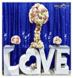 Royal Blue Shimmer Sequin Fabric Photography Backdrop Royal Blue-7FTx7FT-Sequin Photo Backdrop Shower Curtain Set~0731E