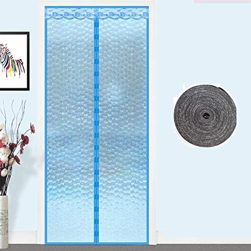 エアコン 網戸 マグネット式, 防風 キッチン Smokeproof パーティション プラスチック 半透明 断熱・遮熱 蚊パティオ スクリーン-b 95x200cm