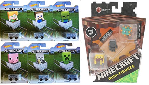 Toddler Toy Minecraft Spider Jockey Action Figure Set Kids Play Game Pretend Pre