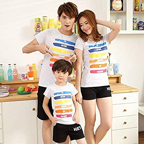 IDEA HIGH Verano Familia Mismo Vestido Colorido del Arco ...