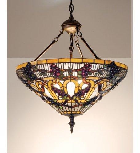 3-Light Jeweled Grape Inverted Pendant
