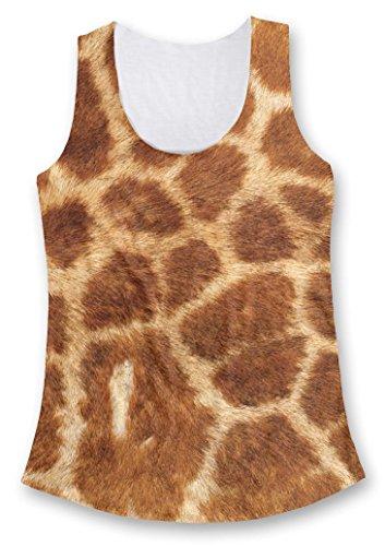 All Over Print Giraffe Fur Ladies Fashion Tank Top, L