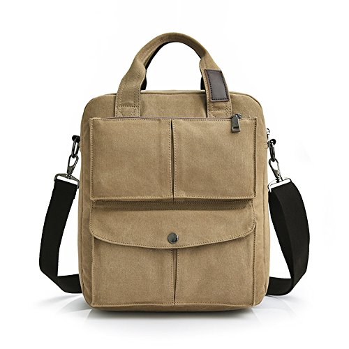 (MiCoolker Leisure Crossbody Tote Bag College Students Shoulder Bag Messenger Purse Travel Handbag Khaki)