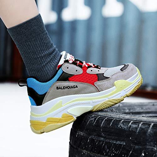 Parejas Senderismo Calzado De Libre Zapatillas Deporte Zapatillas De Cordones Planos Para Con Deporte R Red De Damas Al Aire YR Deporte Respirable Zapatillas De Para UCvw1