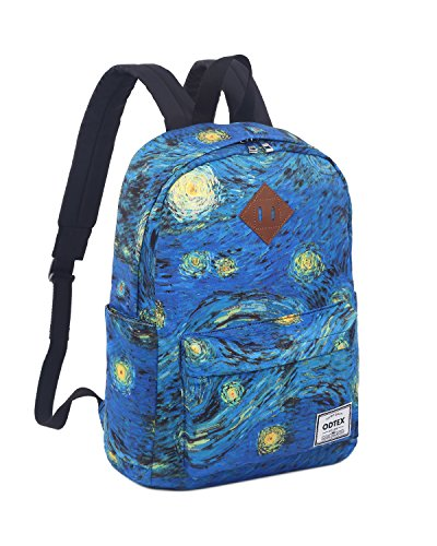ODTEX Backpack Fits for 15 inch Laptop and Tablet Van Gogh The Starry - Mens Bag Noten Van Dries