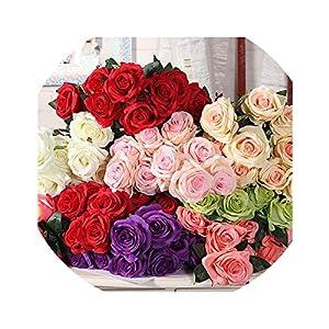 Wild-World DECOR Big Bouquet Artificial Silk Rose Fake Flower Home Wall Decoration Living Room Decoration Wedding Road Lead Flower Arrangement 97
