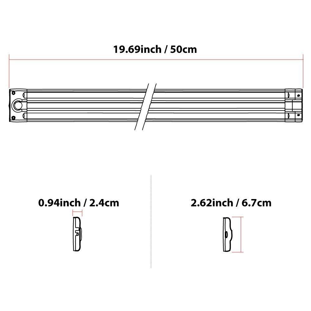 Lightkiwi G2993 20 Inch Warm White Plug-In Hardwire LED Under Cabinet Lighting